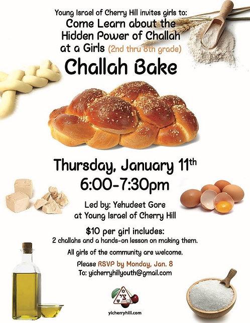 Girls Challah Bake