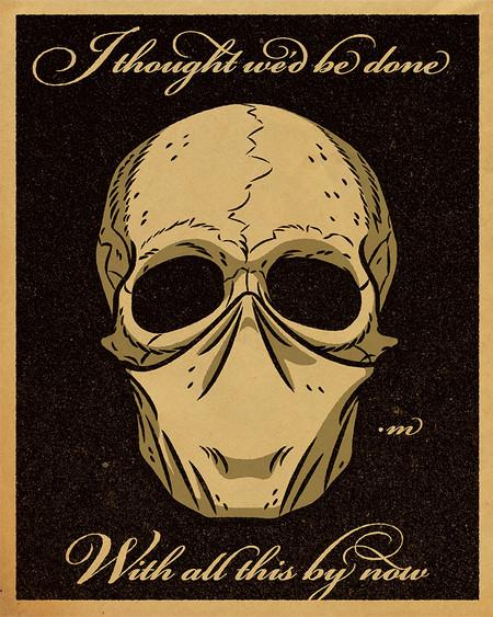 masked skull