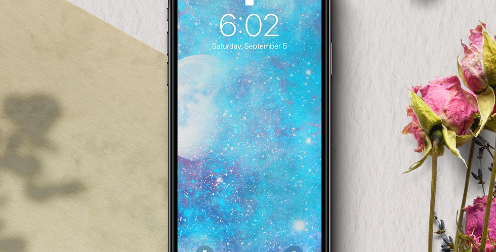 Icy Nebula Galaxy Phone Wallpaper