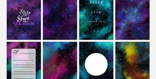Galaxy Digital Journal Card Pack
