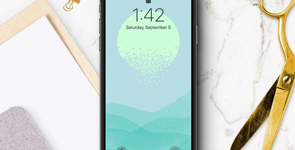 Dissolve Sunrise Phone Wallpaper