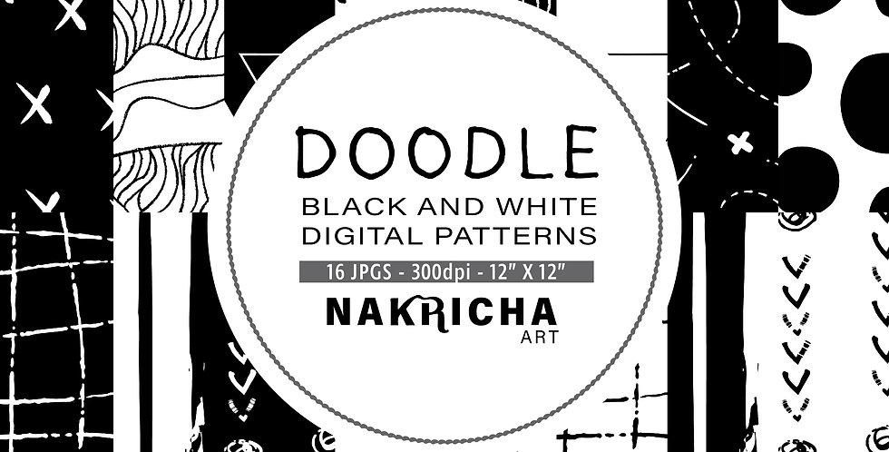Doodle Digital Paper Pack