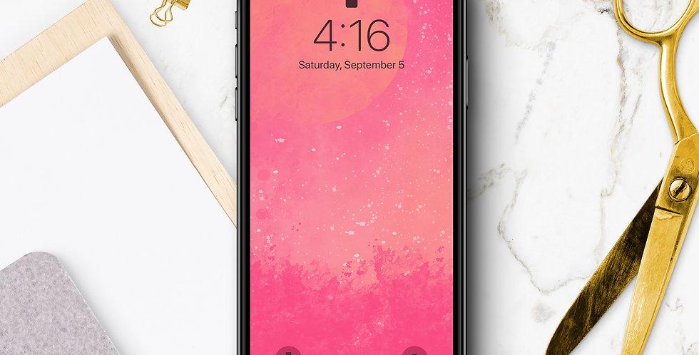 Magenta Sunset Phone Wallpaper
