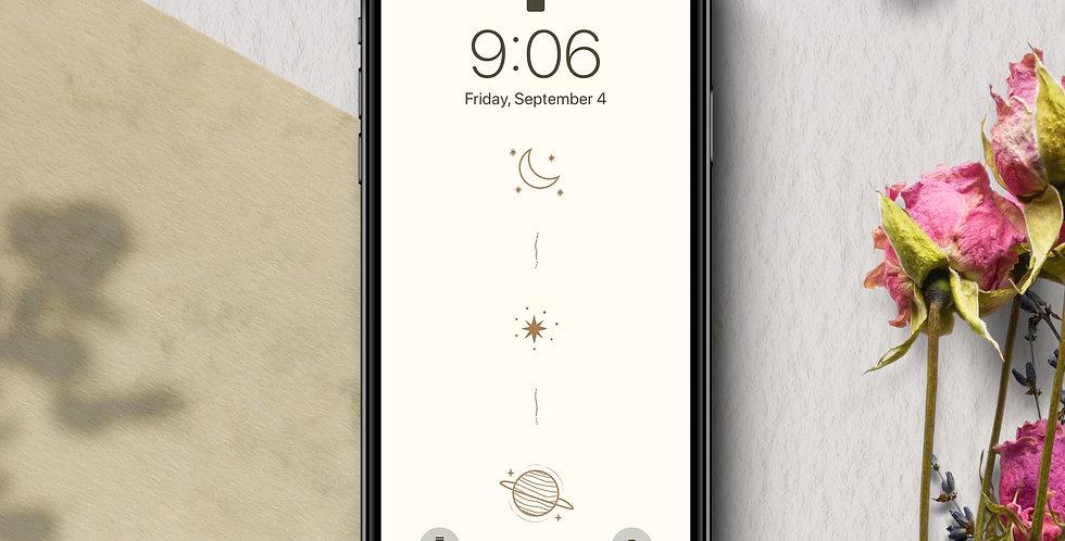 Minimalist Stars & Space Phone Wallpaper