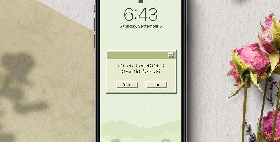 Grow Up Pixel Phone Wallpaper