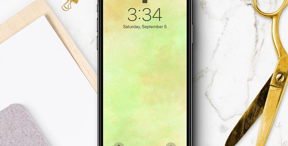Lime Watercolor Phone Wallpaper
