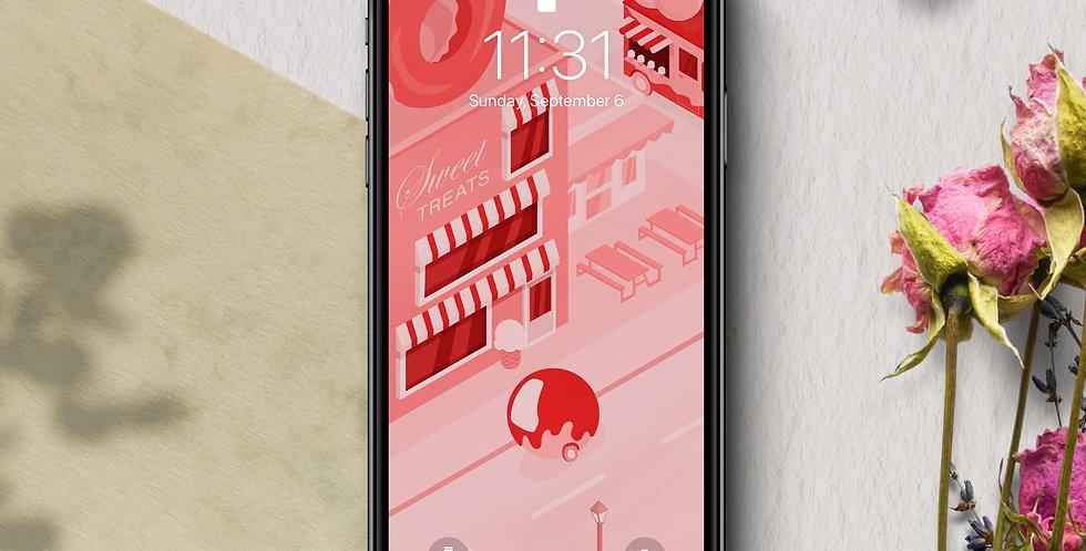 Snack City II Phone Wallpaper