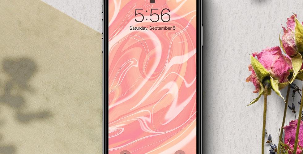 Peach Swirl Phone Wallpaper