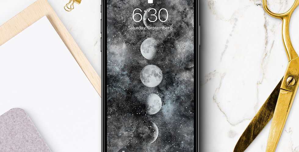 Moon Phases Phone Wallpaper