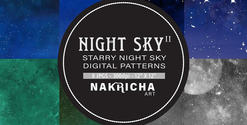 Starry Night Sky II Digital Paper Pack