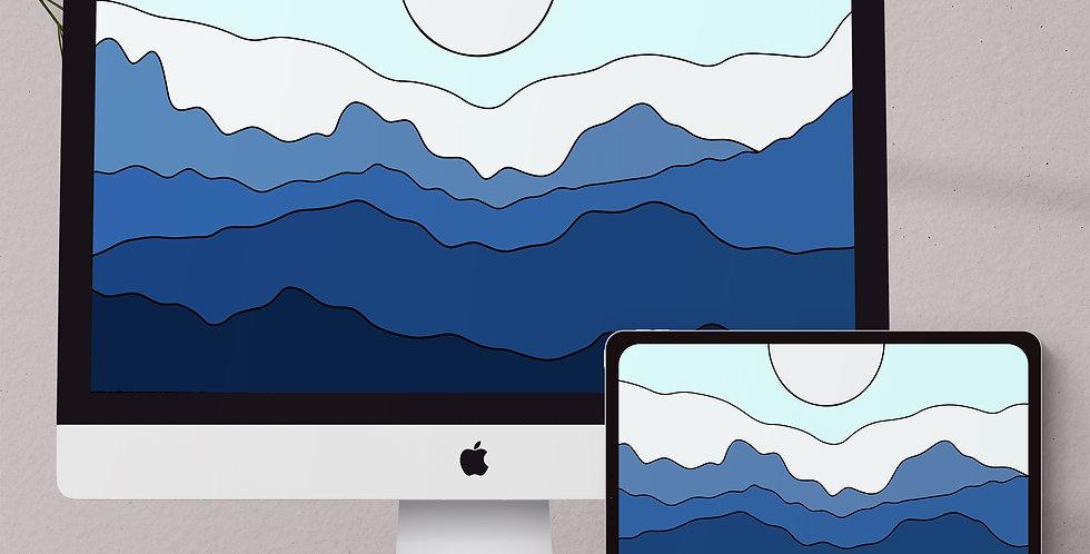 Mountain Peaks Desktop & Tablet Wallpaper