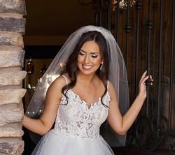Bride by door