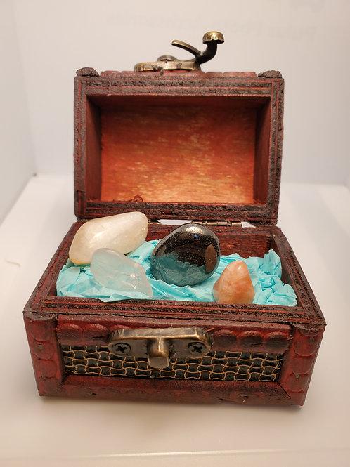 Confidence Crystal Kit with Treasure Box