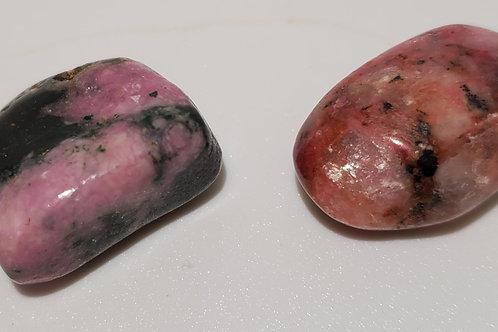Calcite Cobaltian Tumbled (Cobolite)