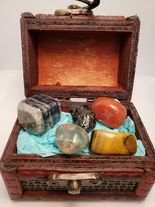 Depression Crystal Kit with Treasure Box