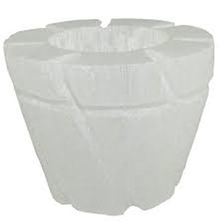 Selenite Pot/Candle Holder