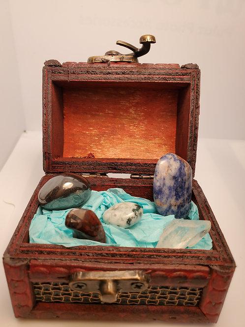 Mental Stress Crystal Kit with Treasure Box