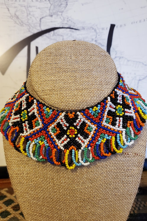 Ukrainian Handmade Glass Necklace