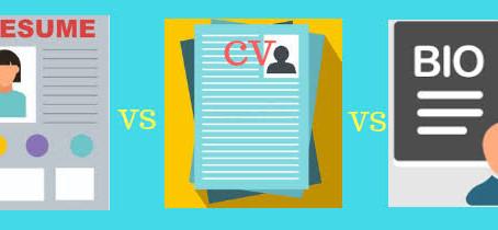 Resume, CV or Bio-Data