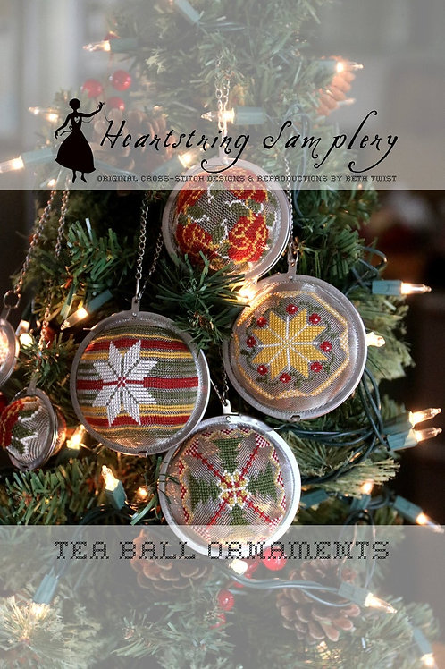 Tea Ball Ornaments-Heartstring Samplery