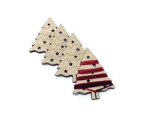 CHristmas tree thread holders