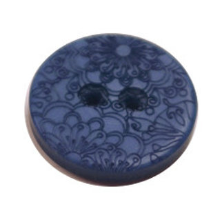 23mm Navy 2 hole button