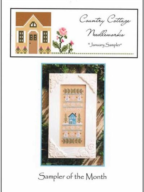 Sampler of the month January- Country Cottage Needleworks