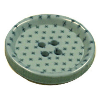 23mm Duck Egg Blue 4 hole button