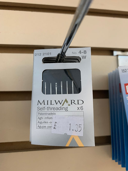 Milward 4-8 Self-Threading Needles