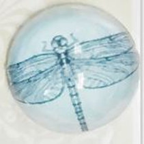 Butterfly dome button 22mm