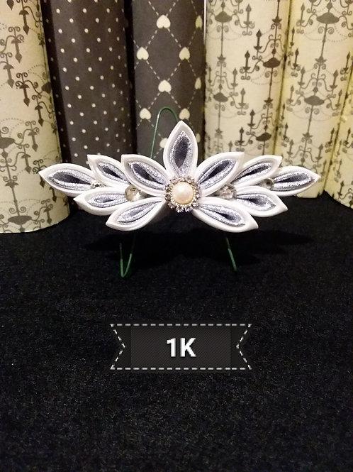 Kanzashi Silver hairslide