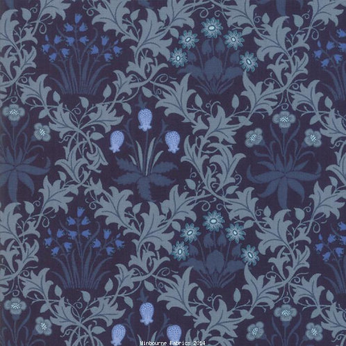 May Morris Lattice Indigo