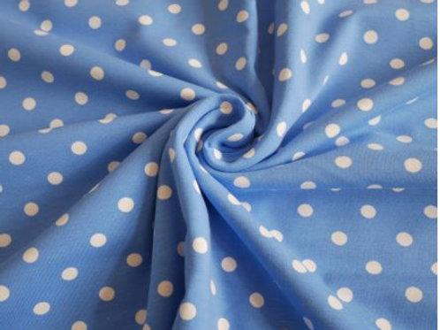 Pea spot Cotton Jersey-Blue