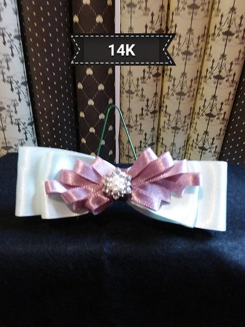 Kanzashi-Pink Bow hair slide
