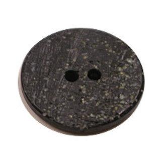 Acrylic Button 2 Hole Textured Speckle 15mm Slate