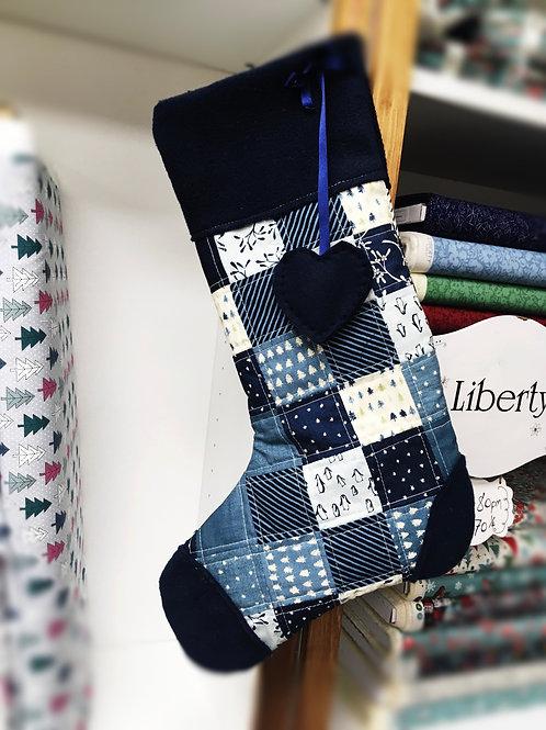 Christmas stocking kit - Janet Clare fabric