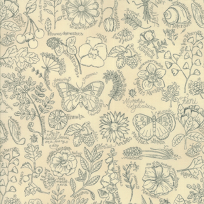 Garden Notes - Tonal Daisy Linen