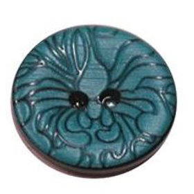 23mm Teal 2 hole button