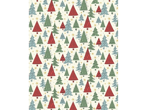 Liberty Festive collection Blue-Noel Forest