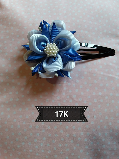 Kanzashi-SHades of blue hair slide
