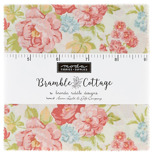 Bramble Cottage Pink - By Brenda Riddle for Moda