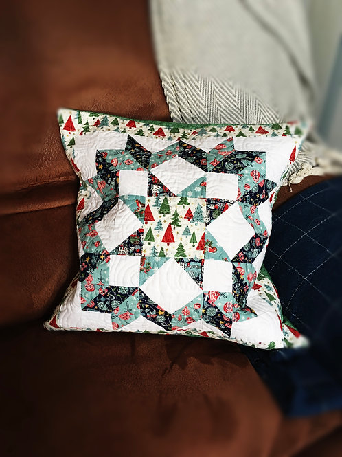 Liberty quilted cushion
