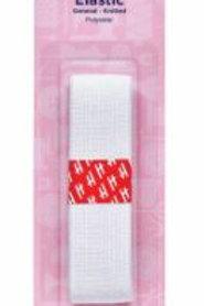 25mm White elastic