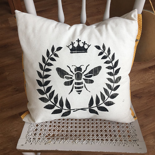 Farmhouse style Bee cushion