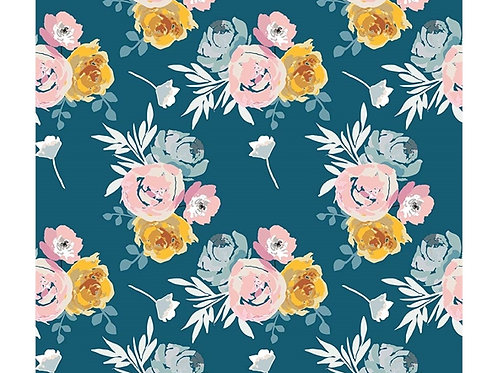Blooms and Bobbins blue floral