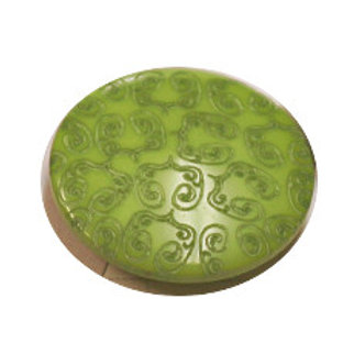 Acrylic Shank Button Embossed 15mm Apple Green