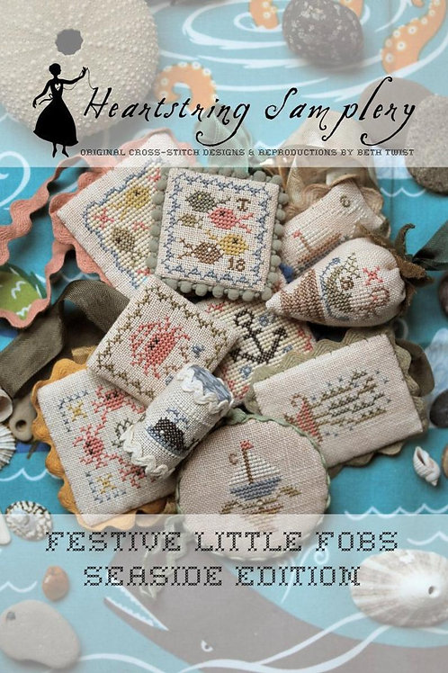 Festive little Fobs- seaside-Heartstring Samplery