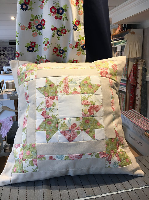 Quilted Cushion - Bramble Cottage fabric