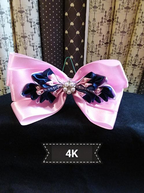 Hair slide-Kanzashi pink Bow
