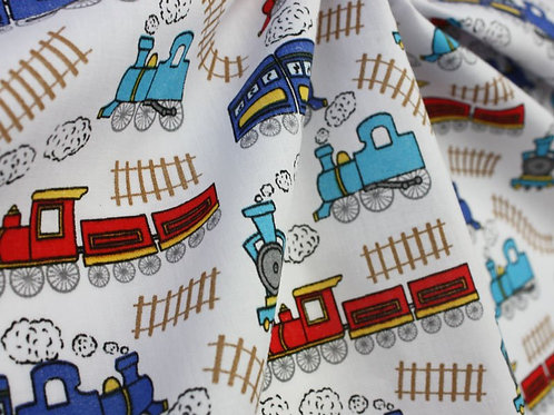 Sally - train polycotton